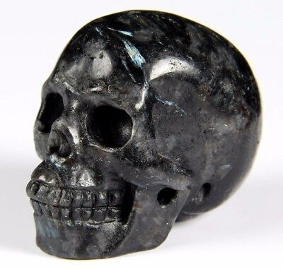 "2.0"" RUSSIAN ASTROPHYLITE Carved Crystal Skull, Realistic, Crystal Healing"