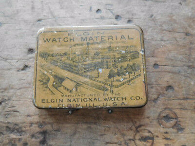 Old  Vintage Jewelers Watchmakers Elgin Naticnal Watch Co. Timing Screws in Tin