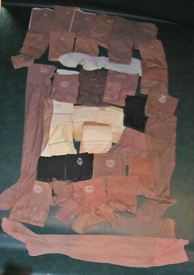 35 pair lot asstd vintage full fashioned nylon stockings as is up to size 11 1/2
