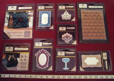 8 Pkgs Downton Abbey Dies And 1 Downton Abbey Embossing Folder