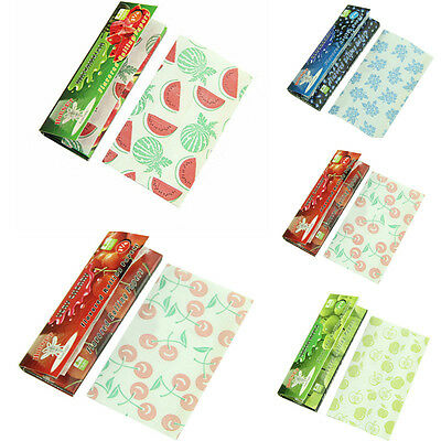 5 Fruit Flavored Smoking Cigarette Hemp Tobacco Rolling Papers Lots 250 Leaves