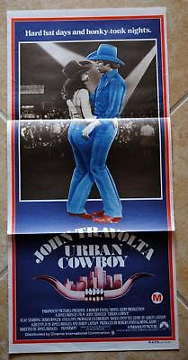 Urban Cowboy 1980 Australian Daybill Movie Poster John Travolta Debra Winger