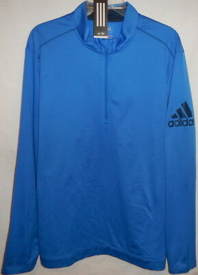 ADIDAS Pro-Tour Logo climawarm classic half zip pullover XL(RayBlue/MineralBlue)