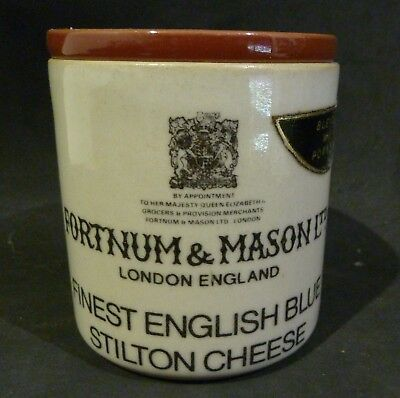 Denby FORTNUM & MASON ENGLISH BLUE  STILTON POT & LID