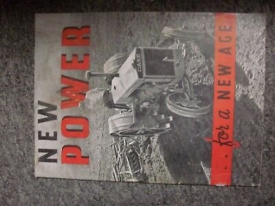 Vintage 1930s Case Tractor Sales Brochure - New Power for a New Age
