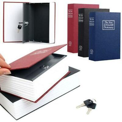 Secret Dictionary Book Hidden Money Jewelry Safe Storage Box Security Key Lock