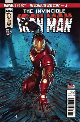 Invincible Iron Man #593 Legacy Marvel Comics Search For Tony Stark! Pt 1