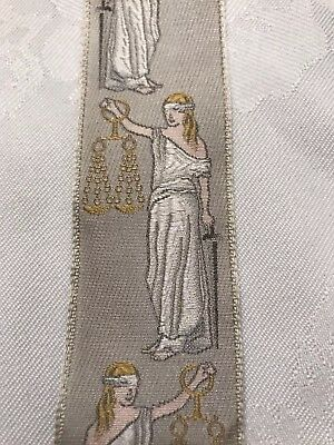 TRAFALGAR SCALES OF JUSTICE SILK Suspenders/Braces LIMITED EDITION**RARE* LAWYER