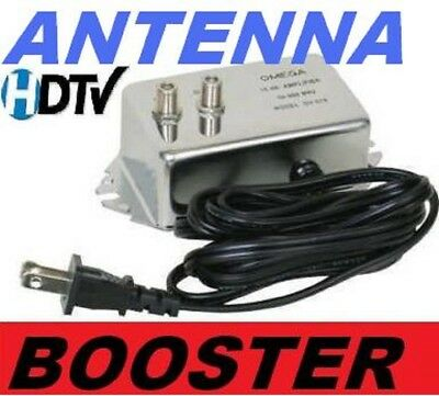 ANTENNA AMPLIFIER SIGNAL BOOSTER CABLE HD TV AMP OTA HD HDTV 18 dB
