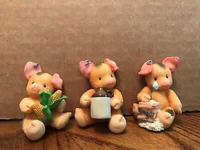 Enesco This Little Piggy Bacon Magnets Set of 3 Assorted  319643