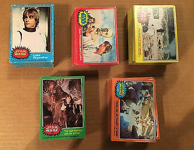 1977 Topps Star Wars Series 1-5 Complete 330 Fox Films Trading Card Set VG