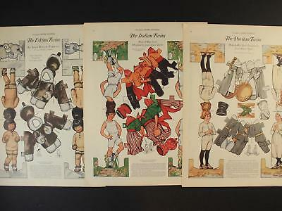 LOT of THREE 1922 LADIES HOME JOURNAL PAPER DOLL PAGES