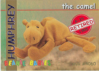 fc4e79a3ce5 TY Beanie Babies BBOC Card - Series 1 Retired (RED) - HUMPHREY the Camel