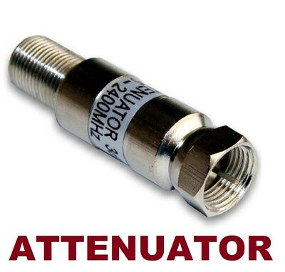 CABLE TV / HD ANTENNA OTA INLINE ATTENUATOR SIGNAL CUT FILTER 6dB 5-2400 MHz