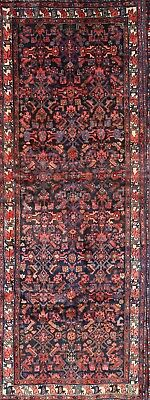 """Hand Knotted All-Over Runner 4x10 Hamadan Persian Oriental Rug 10' 5"""" x 3' 10"""""""