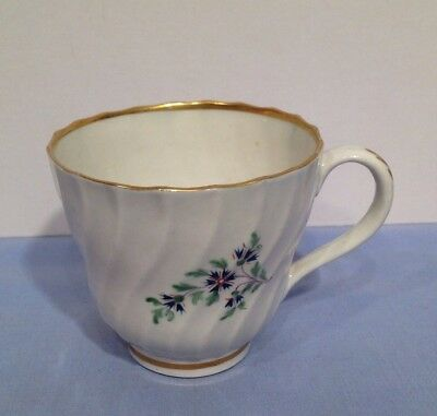 Antique Royal Worcester Flight Period Large Cup Circa 18th Century