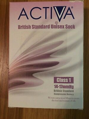 Activa Pair of XL Black Compression Socks , Class 1 , BRAND NEW & BOXED (2)