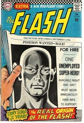 The Flash 167 Dated February 1967. Very Good Condition. Infantino Art