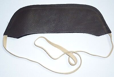 Black Leather Albion (Unbranded) Square Cantle Protector