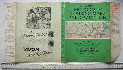 Original dust jacket for Newnes' Motorists' Touring Maps and Gazetteer