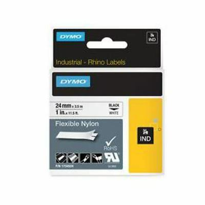 DYMO Dymo 1734524 24mm Black on White Flexible Tape - S0773840