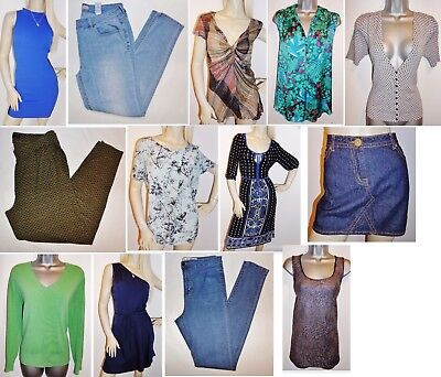 Joblot Of 45 Womens Used High Street Clothing.  8-Plus!