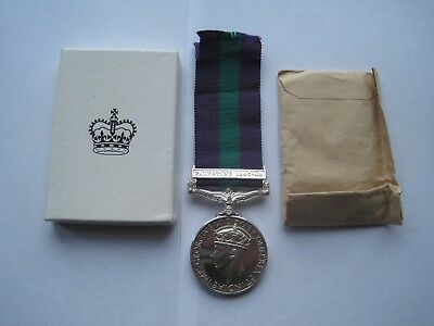 Original General Service Medal With Palestine Bar,cpl Perry,original Box,mint