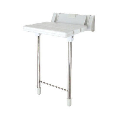 Disabled Wall Mounted Folding Luxury Shower Seat Stool Stainless Steel Legs
