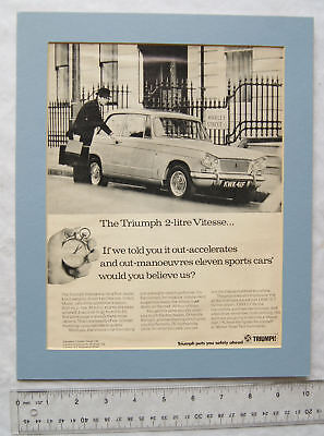 1960s advert for Triumph 2 litre Vitesse