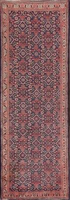 """Antique All-Over Floral Blue Runner 3x10 Mahal Persian Oriental Rug 9' 9 x 3' 5"""""""
