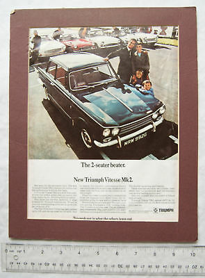1960s advert for Triumph  Vitesse Mk2