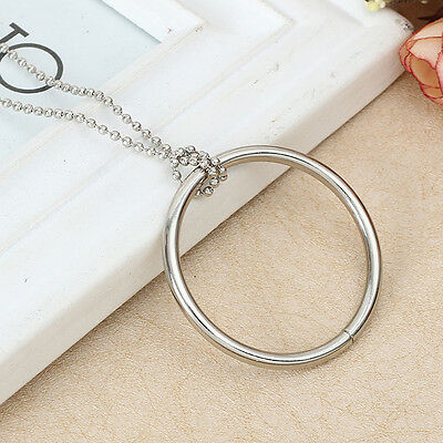 1 Silver Metal Large Magic Supplies Ring Trick Props Knot Ring On Chain Tool Toy