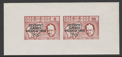 IOM Calf of Man 6023 - 1968 OLYMPIC GAMES  & CHURCHILL m/sheet unmounted mint