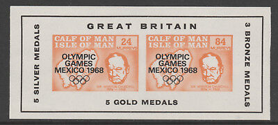 IOM Calf of Man 6024 - 1968 OLYMPIC GAMES  & CHURCHILL m/sheet unmounted mint