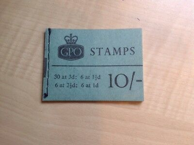 Great Britain Stamp Booklet 10/- July 1964 X8