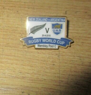Argentina New Zealand Limited Edition 2015  Rugby Word Cup Pool C Badge