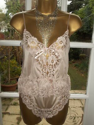 Vintage 1980s Gossard Nylon Lacy Cami & Matching Lacy Pantie Knickers UK12-14