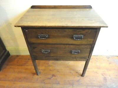 small chest of drawers solid oak perfect for shabby chic