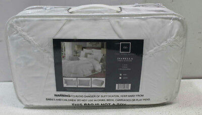 Chic Home Isabella 4 Piece Duvet Cover Set, King, White