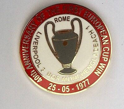 Liverpool FC Enamel Badge Anniversary of Rome 1977 Limited Edition