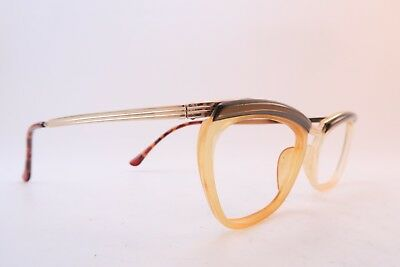 Vintage 50s gold filled eyeglasses frames JLF Doublé Or Laminé Size 46 France