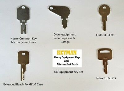 JLG Heavy Equipment / Construction Ignition Key Set (5 Keys)