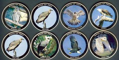Malawi 2010 10 Kwacha Birds Of Prey Proof Coins - 8 Coin Group In Capsules