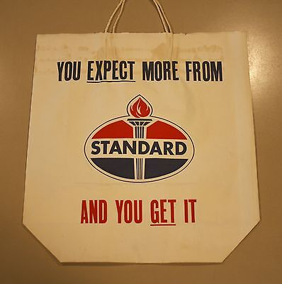 Vintage Unused Standard Oil Gas Station Shopping Bag Petroliana Collectible