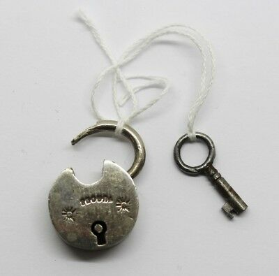 Small Vintage Secura Padlock & Key #35