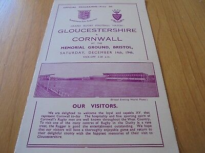 rugby programme date 1946