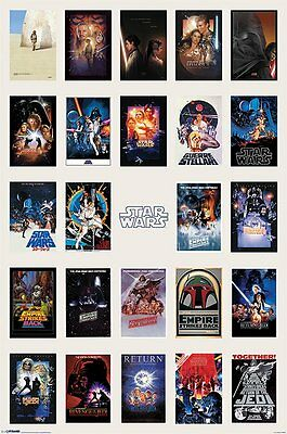 Poster STAR WARS 1-6 - One Sheet Collection  ca60x90cm NEU 58324