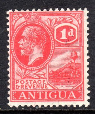Antigua KGV 1921-29  1d Bright Scarlet SG65 LM/Mint