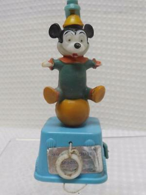 Vtg Early Mickey Mouse Hard Plastic Spin Toy Disney