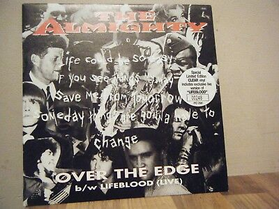 PICTURE SLEEVE.rock.THE ALMIGHTY.1993.OVER THE EDGE.ltd edit.CLEAR VINYL.numberd